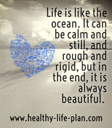 Life is like the ocean. it can be calm and still, and rough and rigid, but in the end, it is always beautiful. www.healthy-life-plan.com