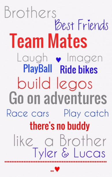 Brothers team mates laugh imagen playball .............................................................♥ ride bikes build legos go on adventures race cars ☆ play catch there's