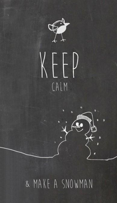 Keep & make a snowman calm