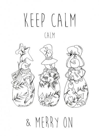 Keep calm calm & merry on
