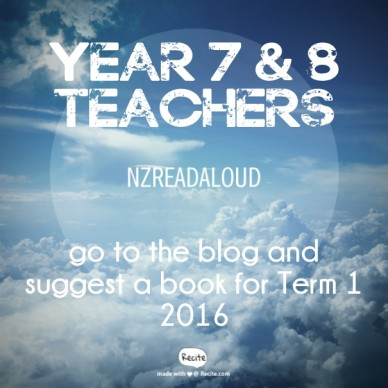 Year 7 & 8 teachers go to the blog and suggest a book for term 12016