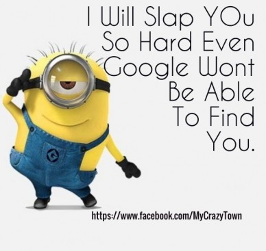 I will slap you so hard even google wont be able to find you. https://www.facebook.com/mycrazytown