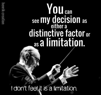 You can see my decision as either a distinctive factor or as a limitation. i don't feel it is a limitation. henrik creation