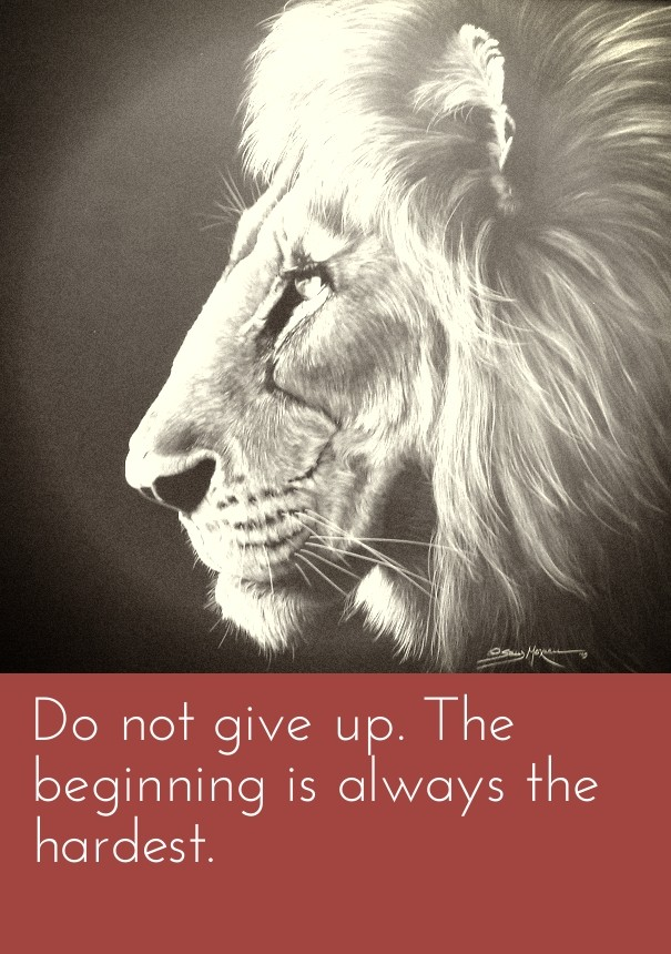 Do Not Give Up The Beginning Is Image Customize Download It For