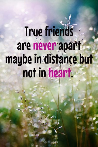 True friends are never apart maybe in distance but not in heart. ♡