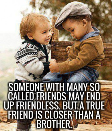 Someone with many so called friends may end up friendless, but a true friend is closer than a brother.