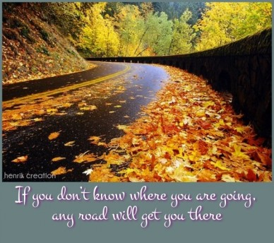 If you don't know where you are going, any road will get you there henrik creation