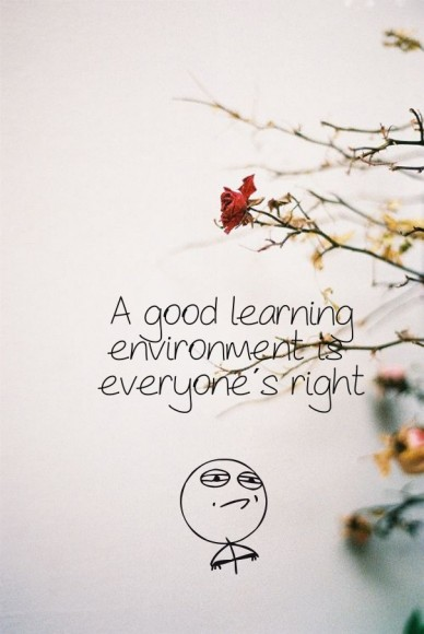 A good learning environment is everyone´s right
