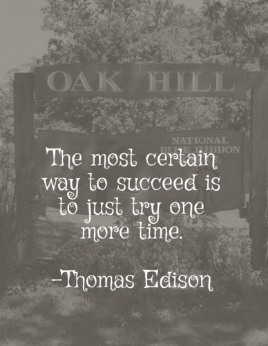 The most certain way to succeed is to just try one more time. -thomas edison