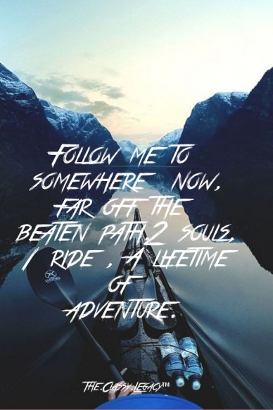 Follow me to somewhere now, far off the beaten path.2 souls, 1 ride , a lifetime of adventure. the.classy.legacy™