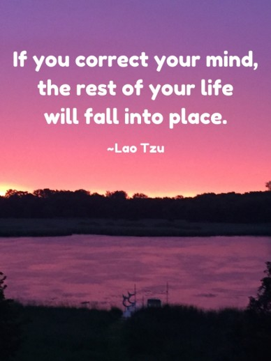 If you correct your mind, the rest of your lifewill fall into place.~lao tzu