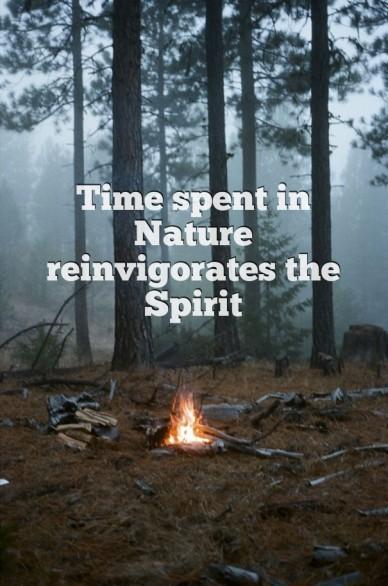 Time spent in nature reinvigorates the spirit