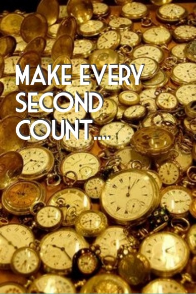 Every second counts....