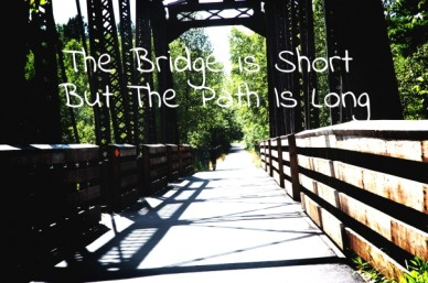 The bridge is short but the path is long