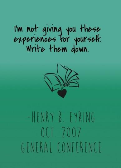 Henry B. Eyring - Journal