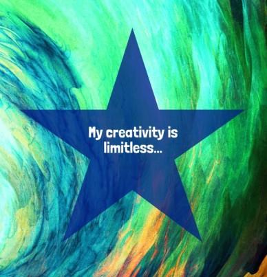 My creativity is limitless...