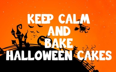 Keep calm and bake halloween cakes