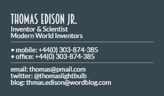 Business card template - Make the Design  Template