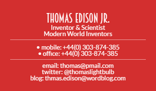 Business card template - Make the changes, save it and download