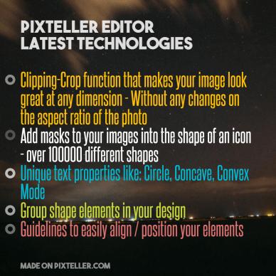 #PixTeller  - PixTeller Editor  Latest technologies