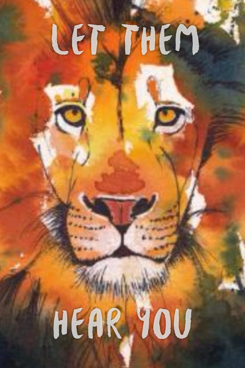 #poster Lion ROAR!!!! Design  Template