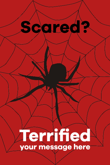 scared - terrofied spider #poster
