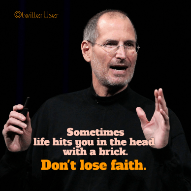 never lose hope #poster - Steve Jobs