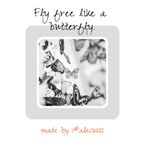 A Butterfly #Poster