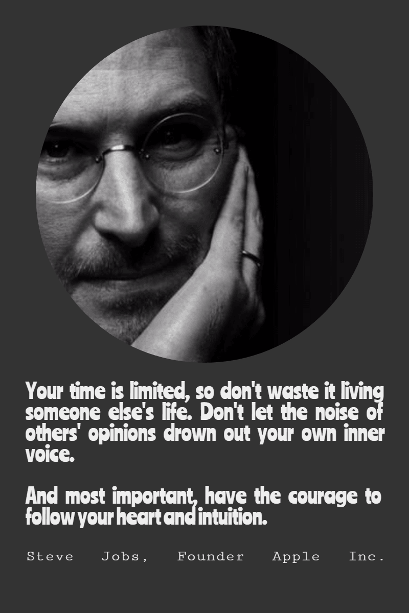 Steve Jobs #poster #quote Design  Template