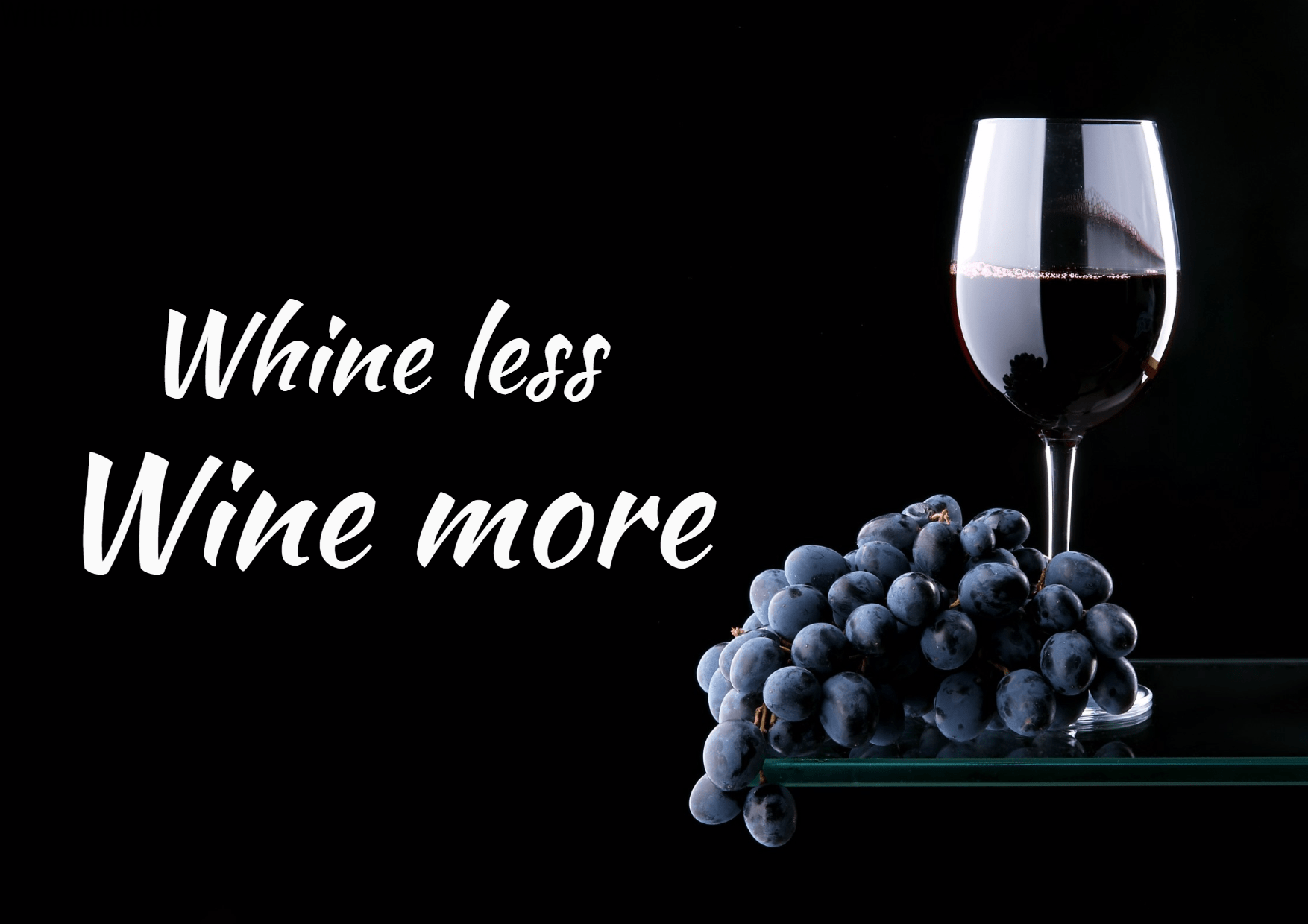 Whine less wine more #Poster #Wine Design  Template
