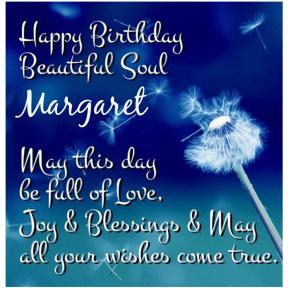 Happy BDay Margaret