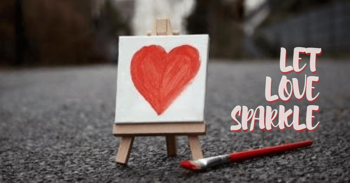 Let love sparkle #love #valentine Design  Template