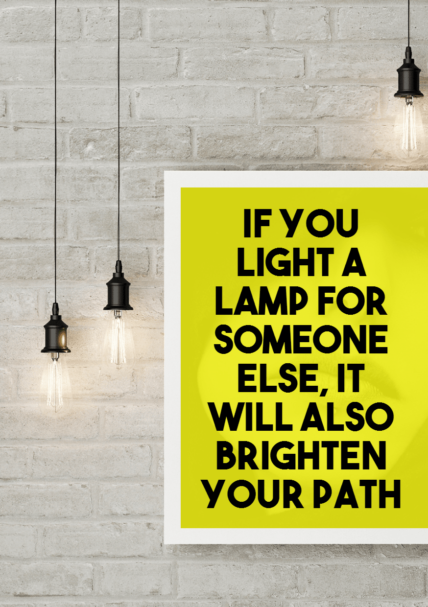 light a lamp - #quote #poster #mockup Design  Template