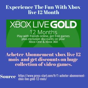 Acheter Abonnement xbox live 12 mois