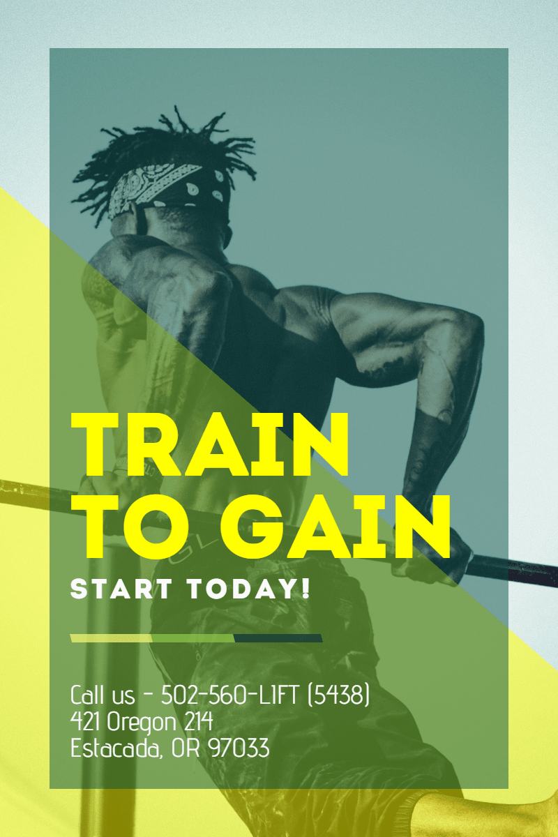 #template #gym #poster  Design  Template