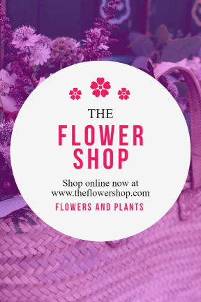 #template #flower #poster