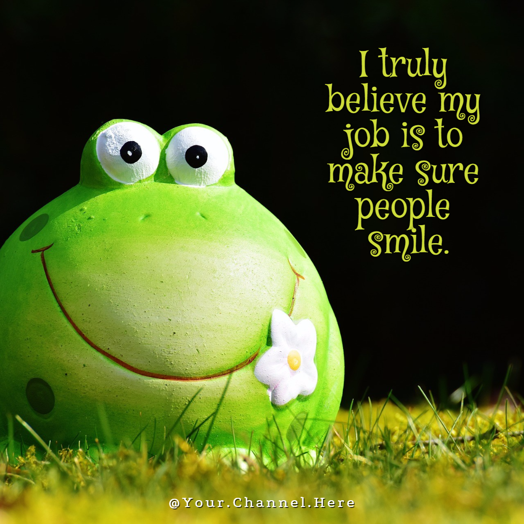 believe smile #funny #avatar #poster Design  Template