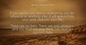 limit #quote #poster #simple