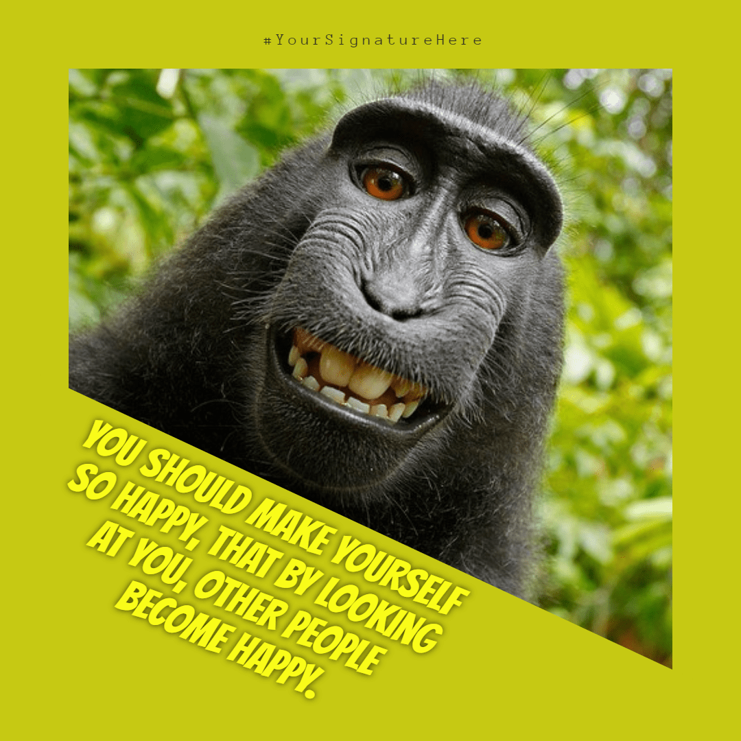 happy #funny monkey #avatar #poster Design  Template