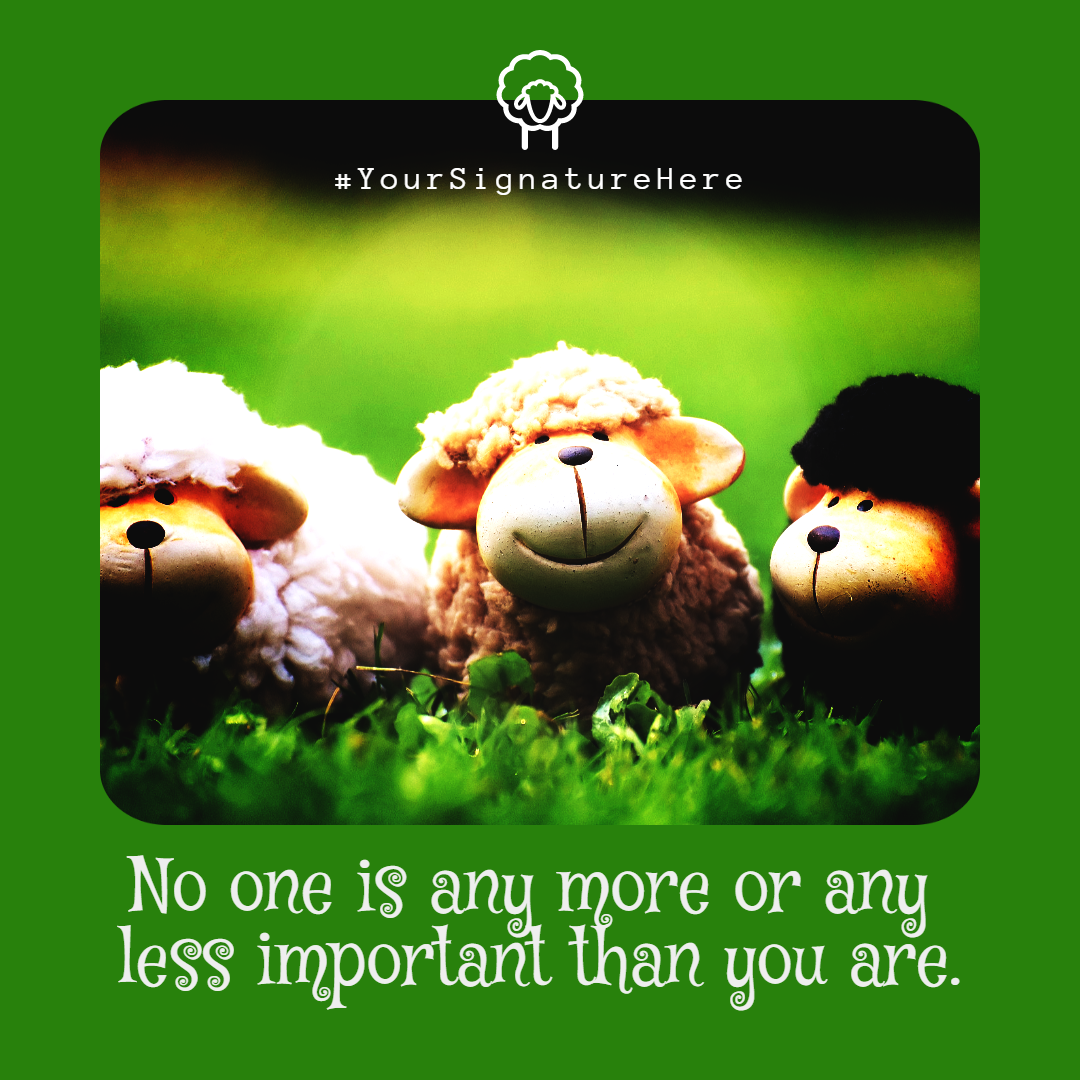 more, less, important sheep #funny Design  Template