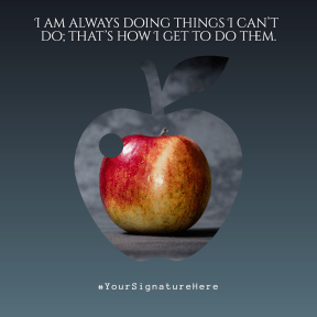doing apple #quote #poster #simple