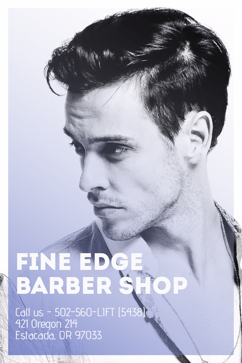 #poster #template #barbershop Design  Template