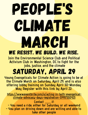 ESC-Climate March Poster