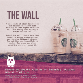The Wall #invitation #anniversary #business