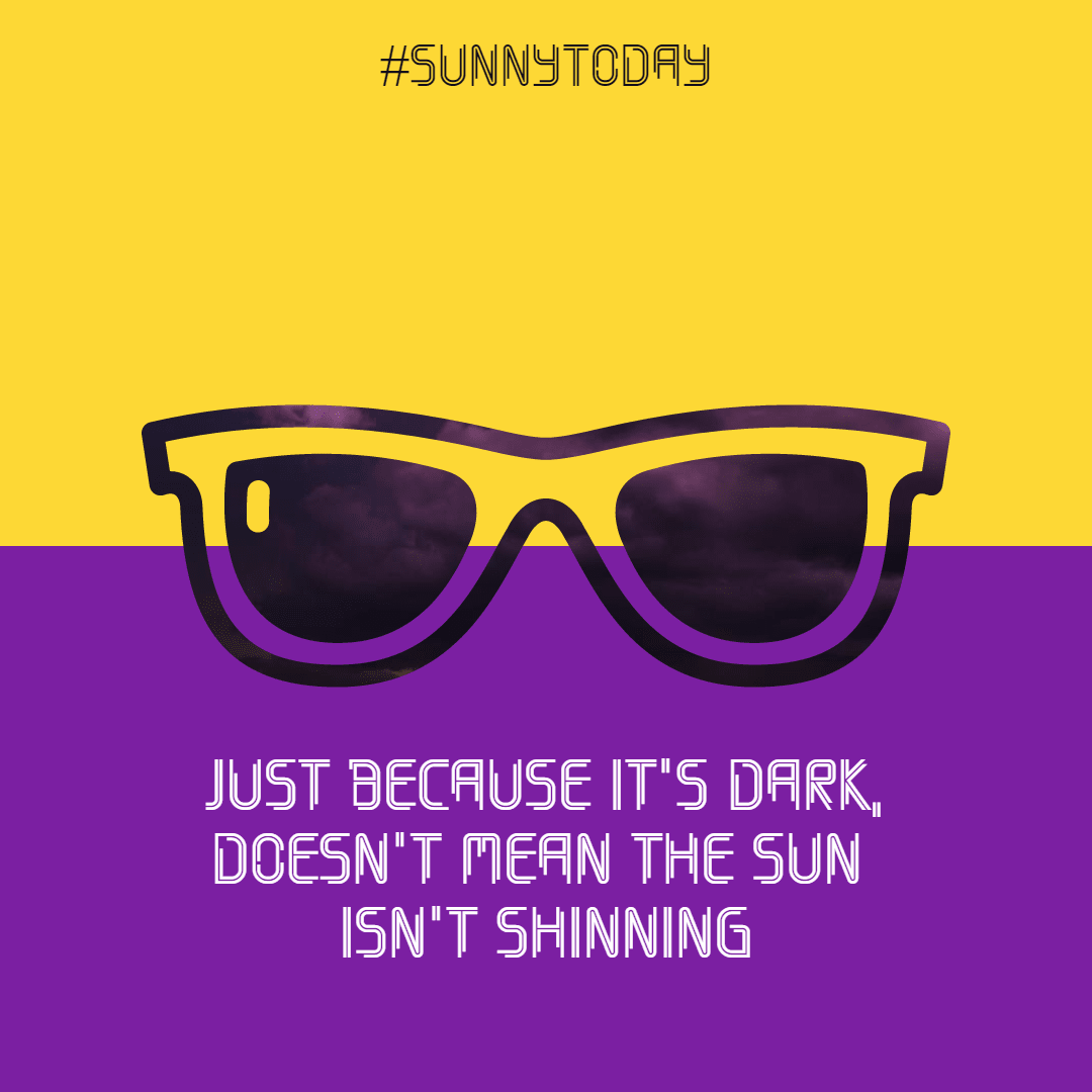 sunshine #avatar #poster #quote Design  Template