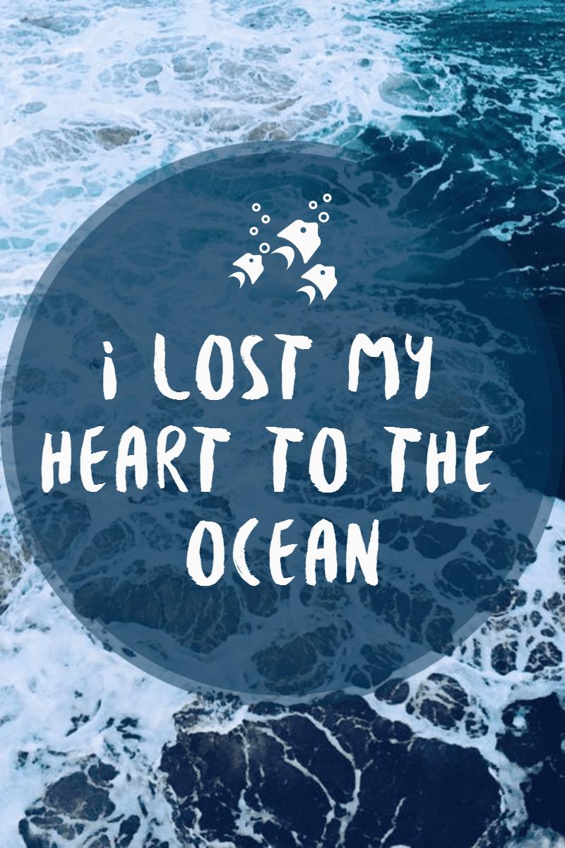 #ocean #poster #quote #simple Design  Template