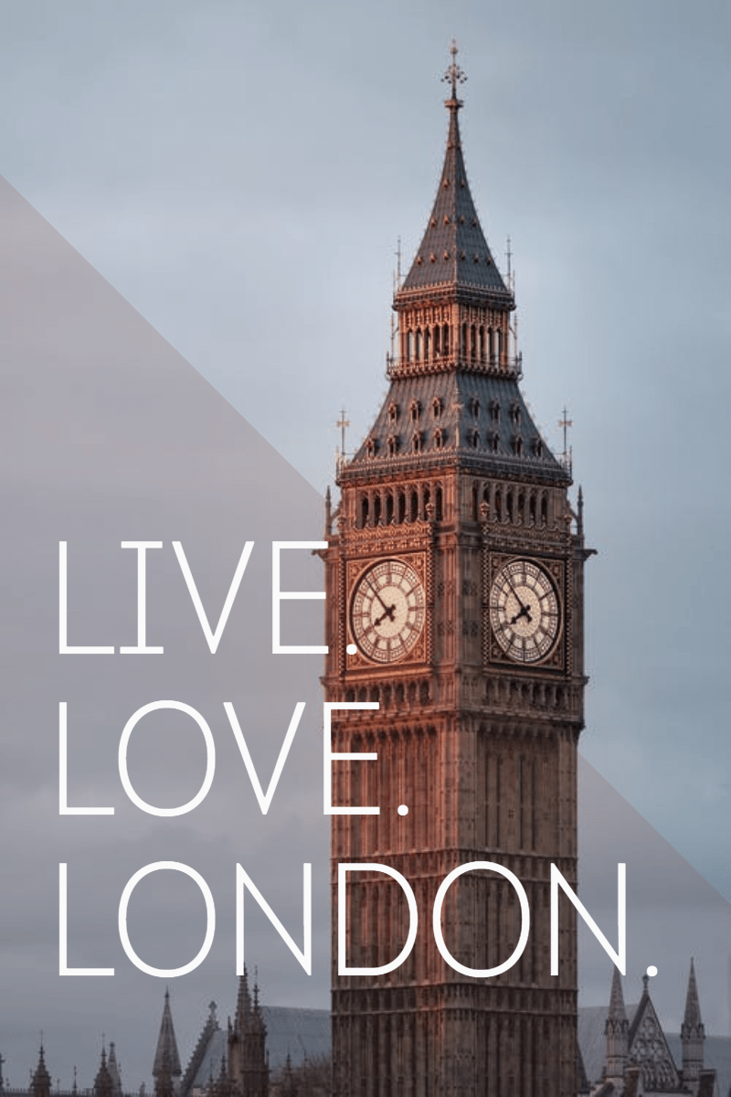 #poster #london #love #live #simple Design  Template