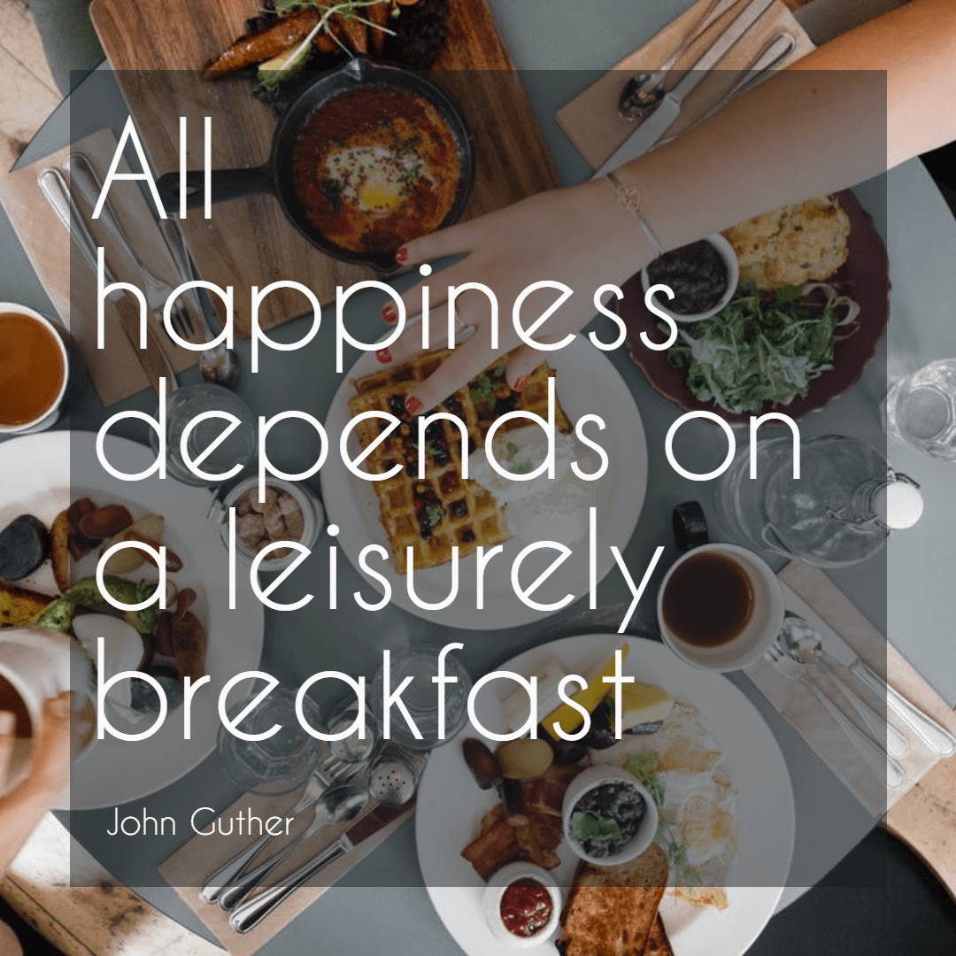 #food #breakfast #happiness #quote Design  Template