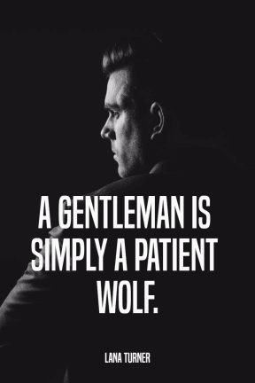 #gentleman #poster #quote #simple