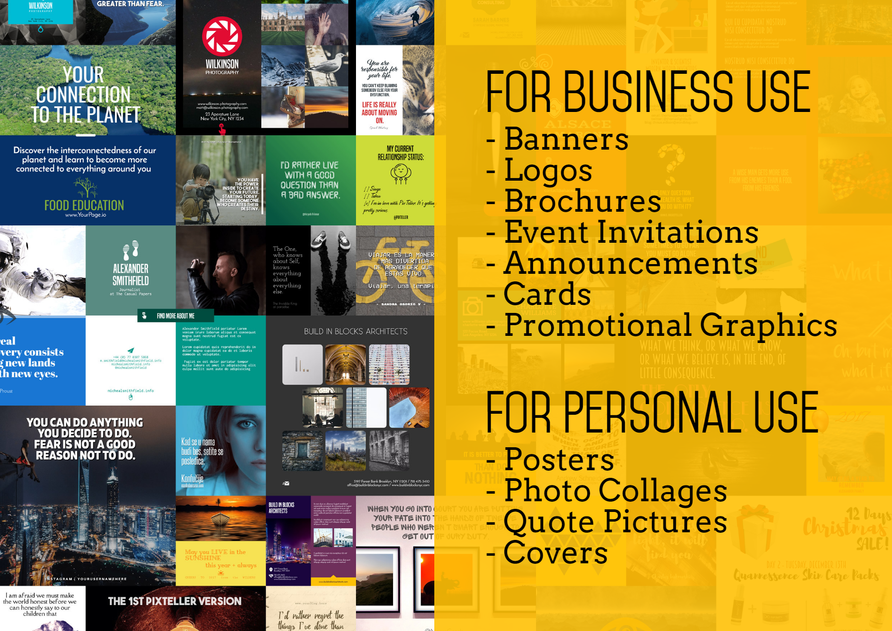 Text, Advertising, Product, Display, Business, PixTeller, Slide5, Black, Yellow,  Free Image